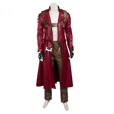 Cosplay Costume Leather Outfit Custom Made Full set Devil May Cry III 3 Dante