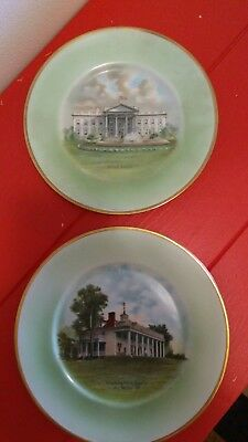 Antique Heutschenreuther, Selb white House and Mt. Vernon plates
