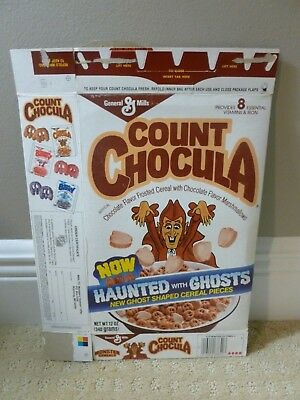 Vintage 1980s 1986 Count Chocula Monster Cereals Cereal Box Halloween time!