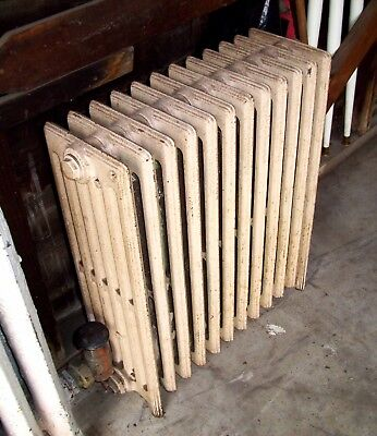 "Antique Vintage Hot Water or Steam Radiator - 12-Fin - 25"" x 22.5"" x 8"""
