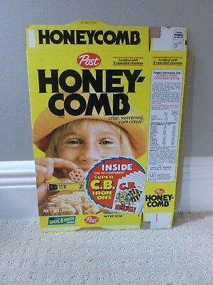 Post Honeycomb Cereal Box 1970s CB Radio Memorabilia Advertising 70s  Iron-Ons