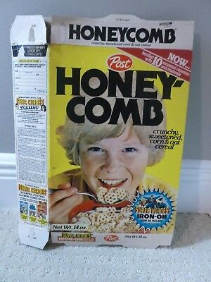 Post Honeycomb Cereal Box 1980s Superman Superheroes DC Comics Iron-Ons