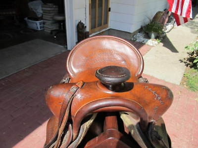 "Vintage Gordon "" Bill "" Elliott #12 Roping Western Saddle - Good Shape For Age"