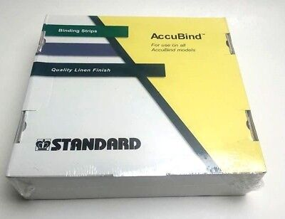 SZ D Standard AccuBind Binding Strips for Use All AccuBind Models Quality Linen