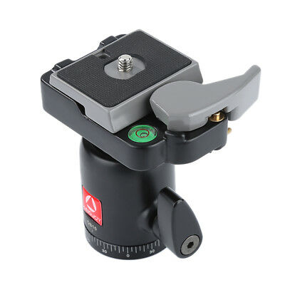 Quick Release Plate 360° Panoramic Rotation for DSLR Tripod Ball Head QB-10 SW1