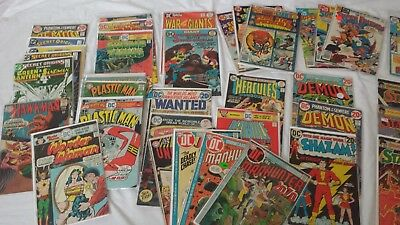 Lot of 44 DC Copper Bronze Silver Age Comics Wonder Woman Plastic Man Shazam!