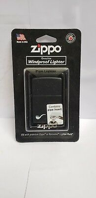 Zippo Lighter: Pipe - Black Matte 218PL. Includes 1-6 pack flint and 1 wick.