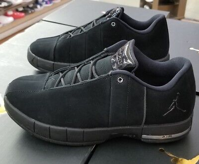 60ee25dbd450c2 AO1696-003  MEN S NIKE Air Jordan Team Elite Low Shoe Triple Black ...