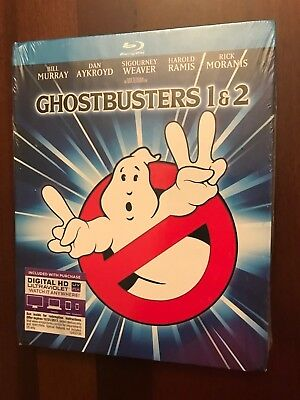 Ghostbusters/Ghostbusters 2 (Blu-ray Disc, 2014, 2-Disc Set, Mastered in 4K) new