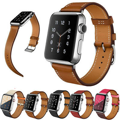 Genuine Leather Wrist Band Strap For Apple Watch iWatch 4 3 2 1 Series 40/44mm