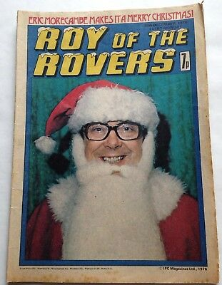 Eric Morcambe as Santa Claus, Christmas Day 1976 Roy of the Rovers comic special