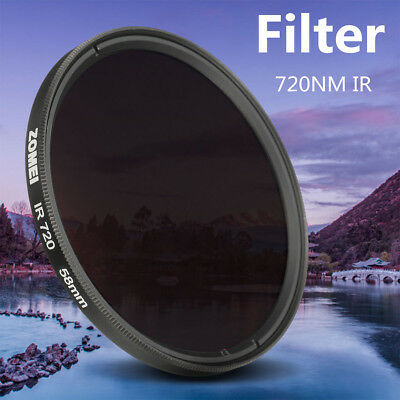 ZOMEi 720nm Infrared IR Filter 62mm For Nature Photography Strong Weak Light