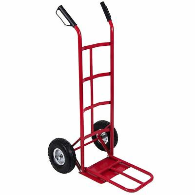 SALE Hand Sack Truck Trolley Industrial Heavy Duty Pneumatic Tyres Red Large