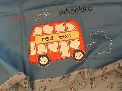 mothercare red bus duvet cover and pillowcase set to fir cot 100x120 cm bnwt
