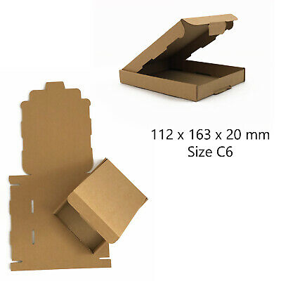 C6 Brown Royal Mail Large Letter Pip Cardboard Postal Boxes *High Quality*