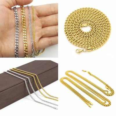 Unisex Stainless Steel Cuban Hip Hop Link Chain Choker Necklace Men Jewelry Gift