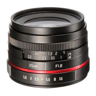 25mm F1.8 Camera Manual Focus MF Lens for Canon EOS M M2 M3 M5 M6 M10 M100