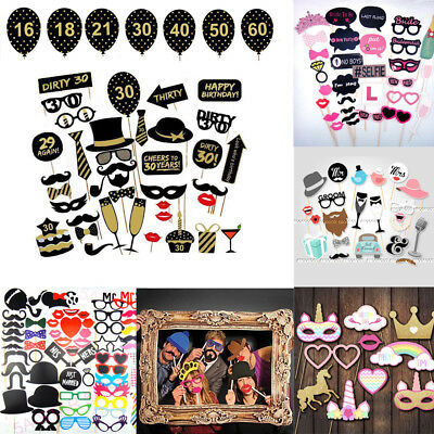 Photo Booth Props Christmas/Birthday/Wedding/Hen party/Baby Shower Party Selfie