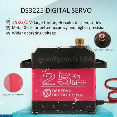 DSSERVO DS3225 25KG Metal Gear Torque Waterproof Digital Servo For RC Car O3Y6
