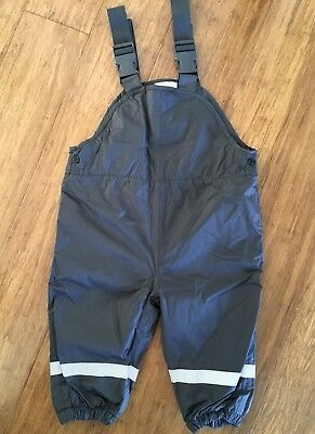 Kids Toddler Winter Outdoor Pants Waterproof Overalls Girls Boys Size 12-18mths