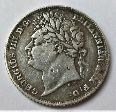 Sixpence  Coin George Iv  1824