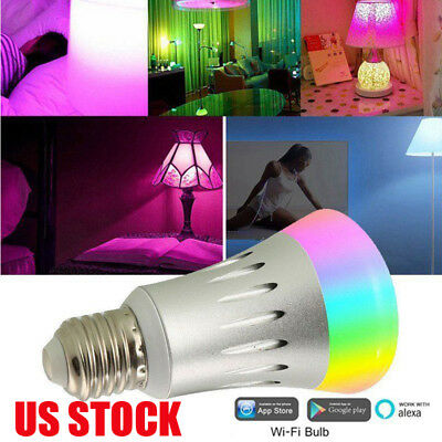 US WiFi Smart LED Light Bulb Alexa Voice Control Lamp Remote Smart Life APP