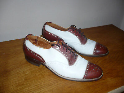 1950s two-tone brown/white cap toe shoes