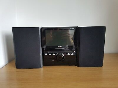 """Elonex Cube 3 Entertainment System - 7"""" LCD TV Freeview DVD CD MP3"""