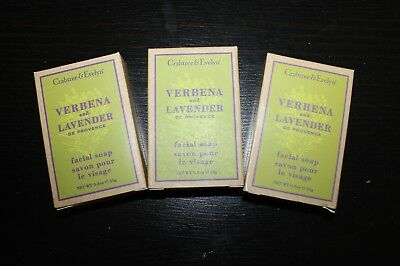 CRABTREE & EVELYN 3 x 25g Seife VERBENA AND LAVENDER NEU Hotelseifen