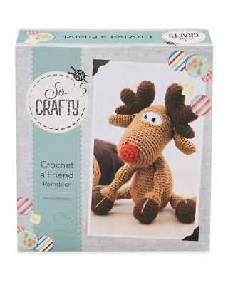 So Crafty Kit Crochet A Friend - REINDEER - New