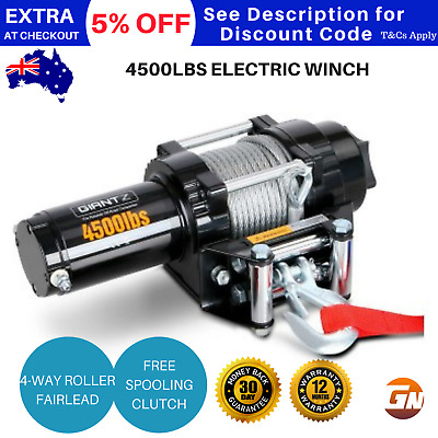 Giantz 4500LBS 12V  Electric Winch Remote Trailer Steel Cable Wireless ATV 4WD