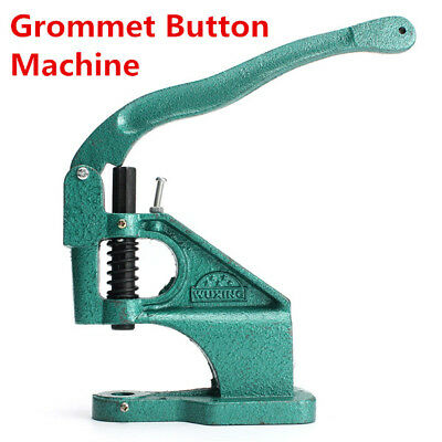 Industrial Grommet Button Machine Maker Eyelet Hand Press Presser Punch Tool