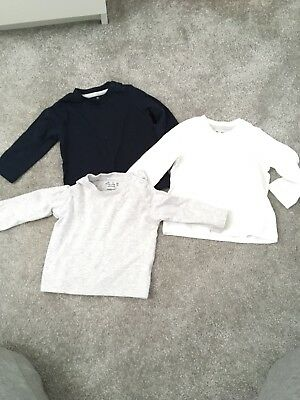 Baby Boys Long Sleeve Tops 3 Pack 3-6months