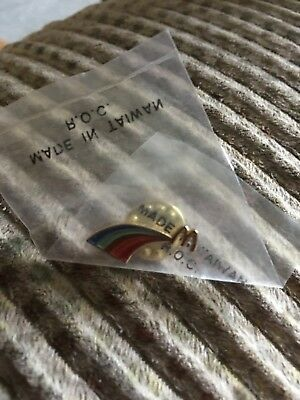 Vintage Mcdonalds Lapel Hat Pin Rainbow