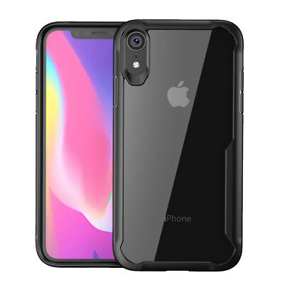 iPhone XS Max XR X 8 7 Plus 6 Antichocs Bumper Transparent Silicone Case Cover