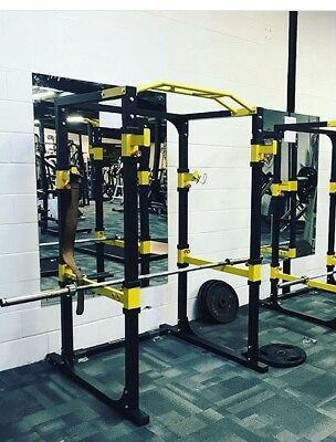 Used PowerGym Fitness  Power Rack Cage Squat Gym Exercise Machine Pull Up Dip