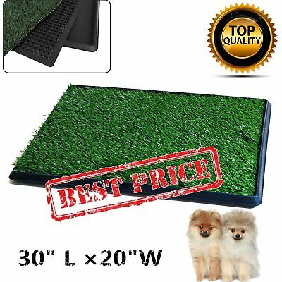 "30""x20"" Puppy Pet Potty Training Pee Indoor Toilet Dog Grass Pad Mat Turf Patch~"