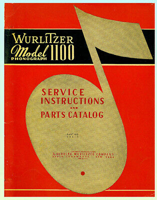 Wurlitzer 1100 Service & Parts Manual ORIGINAL!