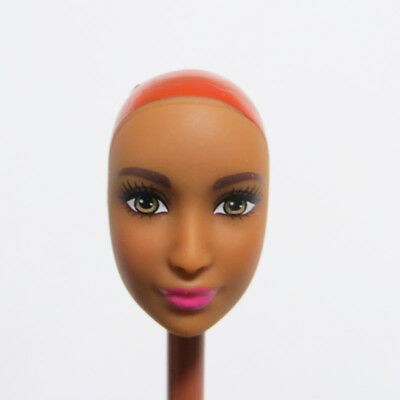 Head for Barbie Doll Tan Skin without Hair DIY Practising Doll Head Soft