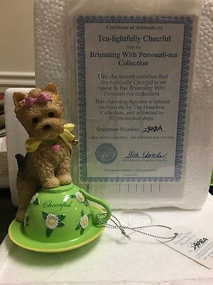 """""""Brimming With Personali-tea"""" Collection """"Tea Lightfully Cheerful"""" Yorkie #2948A"""