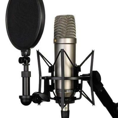 Audio Vocal Studio Condenser Microphone Mic Sound Recording with Shock Mount Kit