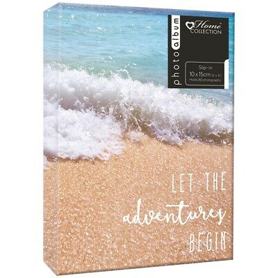 Slip In Photo Album 4x6'' Travel Beach Scene Holds 80 Photos 10x15 cm