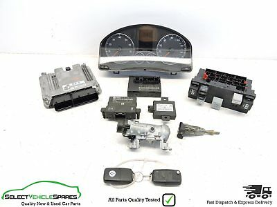 Vw Eos 2.0 Fsi Turbo Lock Set Engine Ecu Clocks Modules + 2 Key Fobs (Code: Bwa)