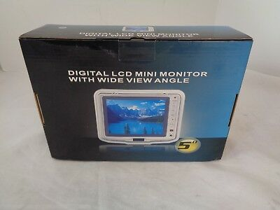 """Digital LCD Mini 5"""" Color Monitor Wide View Angle with Mount NEW in Box"""