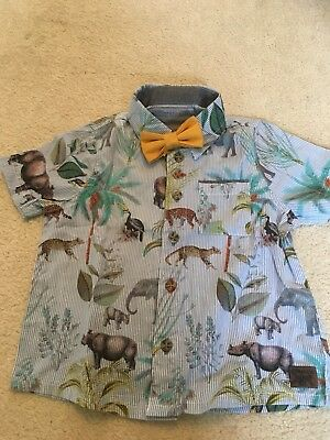 Monsoon Safari Shirt Boys 9-12 Months