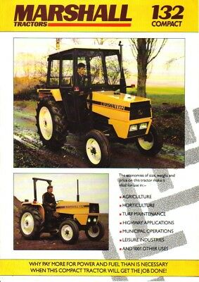 Marshall 132 Compact Tractor Brochure. Excellent Condition. Rare Vintage Piece.