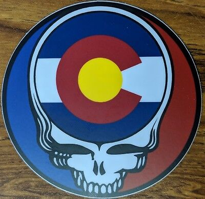 Grateful Dead Colorado Steal Your Face - 2 stickers