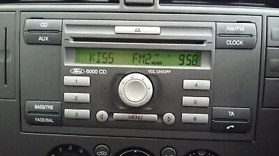 Ford transit Stereo Codes PIN Car Unlock Radio Code Service 6000cd V Series