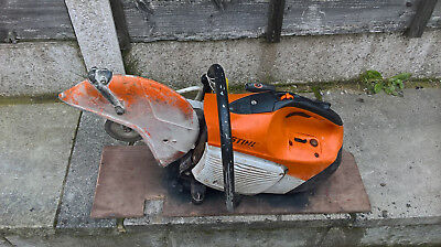 stihl ts 410 saw good starter idles ok new engine  new plug selling spares or re