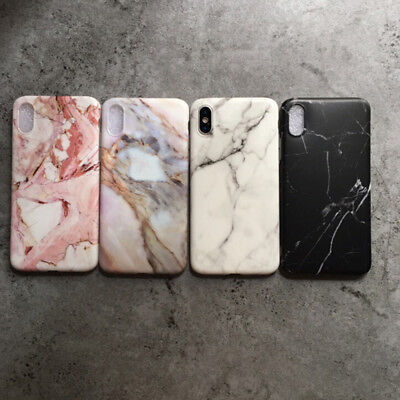 Pastel Marble Pattern Cover Case Shockproof soft For iPhone X Xs XR 8 6s 7 Plus